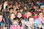 Some of the crowd enjoying the music from Abbaesque on Friday night at the Cahersiveen Celtic Music Festival.