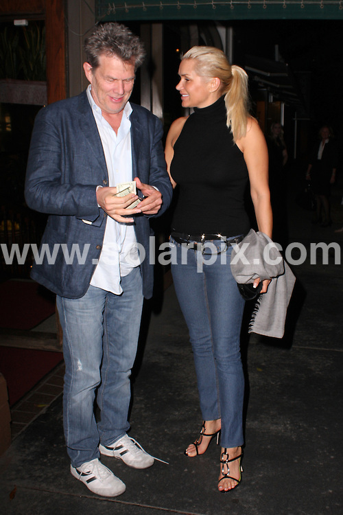 **ALL ROUND PICTURES FROM SOLARPIX.COM**.**WORLDWIDE SYNDICATION RIGHTS**.**NO PUBLICATION IN AUSTRALIA, NEW ZEALAND,.DENMARK, GERMANY OR USA**.Canadian musician and producer David Foster and his date have a late night dinner at Madeo Restaurant in Beverly Hills. Hollywood, California, USA. 5th October 2008..JOB REF: 7530 LAP (JSCW)      DATE: 05_10_2008.**MUST CREDIT SOLARPIX.COM OR DOUBLE FEE WILL BE CHARGED* *UNDER NO CIRCUMSTANCES IS THIS IMAGE TO BE REPRODUCED FOR ANY ONLINE EDITION WITHOUT PRIOR PERMISSION*