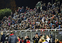 Boyds, MD - Friday Sept. 30, 2016: Fans during a National Women's Soccer League (NWSL) semi-finals match between the Washington Spirit and the Chicago Red Stars at Maureen Hendricks Field, Maryland SoccerPlex. The Washington Spirit won 2-1 in overtime.