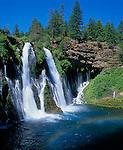 Burney Falls State Park, CA<br /> Burney Creek at 129ft Burney Falls on the Modoc Plateau, Cascade Range