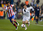 Real Madrid spanish Foward Isco and Atletico de Madrid spanish fowward Raul Garcia during the king´s cup football match with Atletico de Madrid vs Real Madrid at the Vicente Calderon stadium in Madrid on Jaunary 7, 2015. DP by Photocall3000.