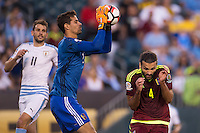 Action photo during the match Uruguay vs Venezuela at Lincoln Financial Field Stadium Copa America Centenario 2016. ---Foto  de accion durante el partido Uruguay vs Venezuela, En el Estadio Lincoln Financial Field Partido Correspondiante al Grupo - C -  de la Copa America Centenario USA 2016, en la foto: Dani Hernandez, Oswaldo Vizcarrondo<br /> --- 09/06/2016/MEXSPORT/Osvaldo Aguilar.