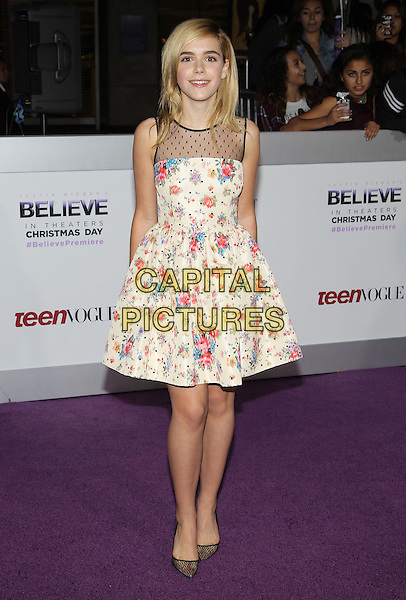 18 December 2013 - Los Angeles, California - Kiernan Shipka. &quot;Justin Bieber's Believe&quot; World Premiere held at Regal Cinemas L.A. Live. <br /> CAP/ADM/KB<br /> &copy;Kevan Brooks/AdMedia/Capital Pictures