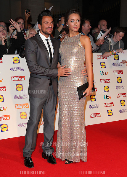 Peter Andre and Emily MacDonagh arriving for the 2013 Pride of Britain Awards, at the Grosvenor House Hotel, London. 07/10/2013 Picture by: Alexandra Glen / Featureflash