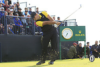 Patrick Reed (USA) tees off the 13th tee during Thursday's Round 1 of the 148th Open Championship, Royal Portrush Golf Club, Portrush, County Antrim, Northern Ireland. 18/07/2019.<br /> Picture Eoin Clarke / Golffile.ie<br /> <br /> All photo usage must carry mandatory copyright credit (© Golffile | Eoin Clarke)