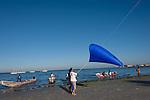 Essai en mer avec des pêcheurs d ela plage de Ann. légende en cours d eRédaction, voir avec Heidinger jean-Marie et Olivier Quarante.