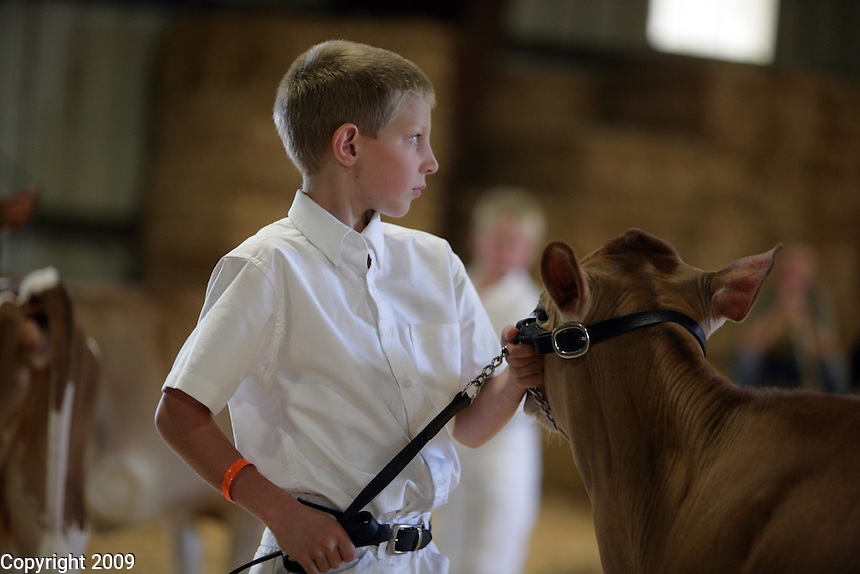 Might be Micha Oostra, If so, he won the category. Novice Fitting and Showing of Jersey calves. .NW Washington Fair. August 18, 2009 PHOTOS BY MERYL SCHENKER