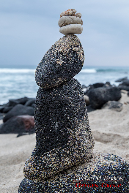 Balancing Rock Tower On Kona Beach