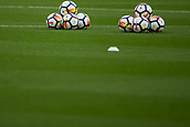 30th September, bet365 Stadium, Stoke-on-Trent, England; EPL Premier League football, Stoke City versus Southampton; Balls ready for the warm up