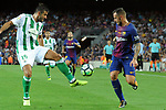 League Santander 2017/2018. Game: 01.<br /> FC Barcelona vs Real Betis: 2-0.<br /> Barragan vs Paco Alcacer.