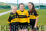 At the 4th annual Sandra Keane u/13 ladies football blitz in the John Mitchels sports complex on Saturday were Cara O'Sullivan, Faith Lockett, Debbie May from Dr Crokes