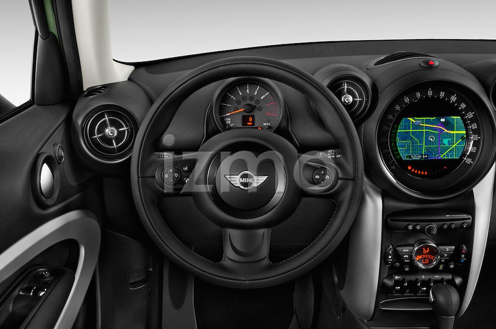 Car pictures of steering wheel view of a 2015 MINI Paceman Cooper 3 Door Hatchback Steering Wheel