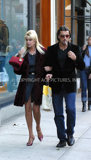 ***EXCLUSIVE***..Socialite Ivana Trump and Rubicondi Rossano  taking afternoon stroll on Madison Avenue. New York, November 10, 2002. Please byline: Alecsey Boldeskul/NY Photo Press.   ..*PAY-PER-USE*      ....NY Photo Press:  ..phone (646) 267-6913;   ..e-mail: info@nyphotopress.com