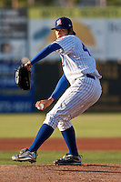 Pitcher Dae-Eun Rhee #49 of the Daytona Cubs delivers a pitch during a game against the Bradenton Marauders at Jackie Robinson Ballpark on May 26, 2011 in Daytona Beach, Florida. (Scott Jontes / Four Seam Images)