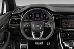 Car pictures of steering wheel view of a 2020 Audi Q7 S-Line 5 Door SUV Steering Wheel