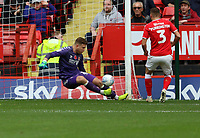 Dillon Phillips of Charlton Athletic makes a save during Charlton Athletic vs Preston North End, Sky Bet EFL Championship Football at The Valley on 3rd November 2019