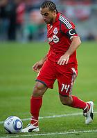 15 April 2010: Toronto FC midfielder Dwayne De Rosario #14 in action during a game between the Philadelphia Union and Toronto FC at BMO Field in Toronto..Toronto FC won 2-1..Photo by Nick Turchiaro/isiphotos.com.