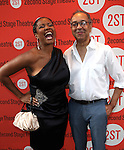 Tonya Pinkins & George C. Wolfe.attending the Off-Broadway Opening Night Performance of Second Stage Theatre's 'Dogfight' at the Second Stage Theatr in New York City.