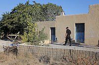 FAO JANET TOMLINSON, DAILY MAIL PICTURE DESK<br /> Pictured: The part of the house which will be demolished for the search in Kos, Greece. Monday 03 October 2016<br /> Re: Police teams led by South Yorkshire Police, searching for missing toddler Ben Needham on the Greek island of Kos have moved to a new area in the field they are searching.<br /> Ben, from Sheffield, was 21 months old when he disappeared on 24 July 1991 during a family holiday.<br /> Digging has begun at a new site after a fresh line of inquiry suggested he could have been crushed by a digger.