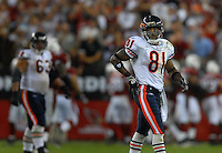 Oct. 16, 2006; Glendale, AZ, USA; Chicago Bears wide receiver (81) Rashied Davis against the Arizona Cardinals at University of Phoenix Stadium in Glendale, AZ. Mandatory Credit: Mark J. Rebilas