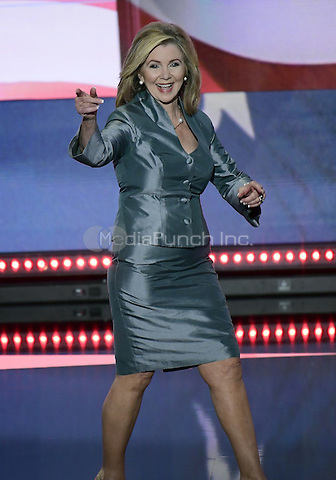 United States Representative Marsha Blackburn (Republican of Tennessee) arrives to make remarks at the 2016 Republican National Convention held at the Quicken Loans Arena in Cleveland, Ohio on Thursday, July 21, 2016.<br /> Credit: Ron Sachs / CNP/MediaPunch<br /> (RESTRICTION: NO New York or New Jersey Newspapers or newspapers within a 75 mile radius of New York City)