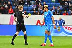 10.03.2019, Prezero-Arena, Sinsheim, GER, 1 FBL, TSG 1899 Hoffenheim vs 1. FC Nuernberg, <br /> <br /> DFL REGULATIONS PROHIBIT ANY USE OF PHOTOGRAPHS AS IMAGE SEQUENCES AND/OR QUASI-VIDEO.<br /> <br /> im Bild: Gelbe Karte von Schiedsrichter Christian Dingert fuer Joelinton (TSG Hoffenheim #34)<br /> <br /> Foto &copy; nordphoto / Fabisch