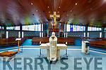 Fr Padraig Walsh saying mass at Saint Brendan's Church, Tralee on Tuesday, Saint Patrick's Day.