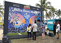 MIAMI BEACH, FL - FEBRUARY 1: FOX SUPER BOWL LIV ACTIVATION AT LUMMUS PARK AND FOX SPORTS SOUTH BEACH STUDIO: FOX's weeklong interactive fan experience on the beach in Miami at Lummus Park on February 1, 2020 in Miami Beach, Florida. (Photo by Frank Micelotta/Fox/PictureGroup)