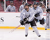 Ryan Tait (PC - 8) - The Providence College Friars practiced on the rink at Fenway Park on Friday, January 6, 2017.