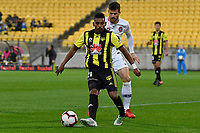 Wellington Phoenix' Roy Krishna in action during the A-League - Wellington Phoenix v Western Sydney Wanderers at Westpac Stadium, Wellington, New Zealand on Saturday 3 November  2018. <br /> Photo by Masanori Udagawa. <br /> www.photowellington.photoshelter.com
