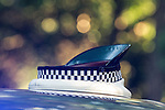 © Joel Goodman - 07973 332324 . 16 August 2013 . Manchester , UK . For stock - traffic police officer's hat on top of an unmarked police car . Drive along with Inspector Matt Bailey-Smith ( 16366 ) of Greater Manchester Police 's Serious Collision Unit . Photo credit : Joel Goodman