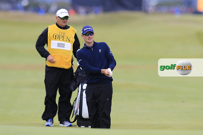 Justin Rose (ENG) at the 17th green during Monday's Final Round of the 144th Open Championship, St Andrews Old Course, St Andrews, Fife, Scotland. 20/07/2015.<br /> Picture Eoin Clarke, www.golffile.ie