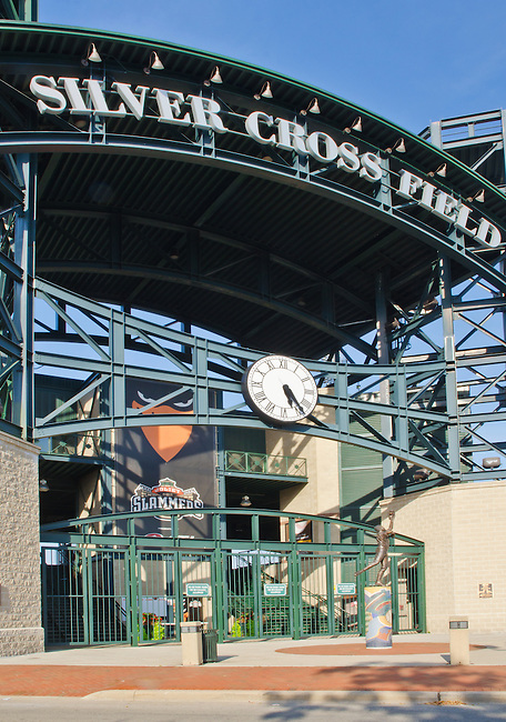 Silver Cross Field is home of the Joliet Slammers Minor League Baseball Team, Joliet, Illinois