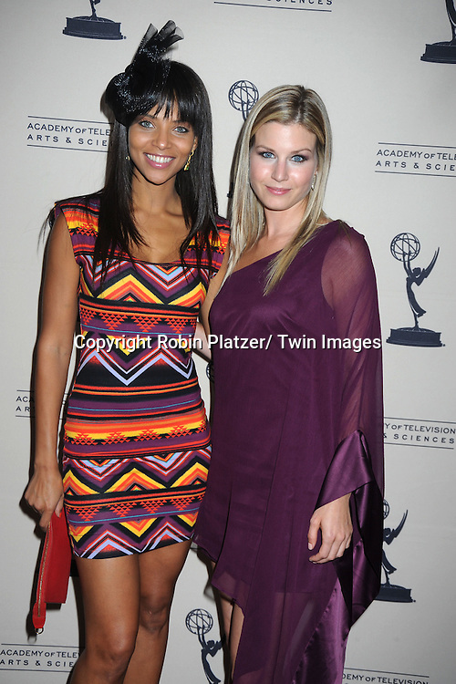 Denise Vasi  and Stephanie Gatschet attending the Television Academy's Daytime Programming Peer Group presents a cocktail reception in honor of the 2011 Daytime Emmy Awards Nominees on June 16, 2011 .at The SLS Hotel at Beverly Hills in California.