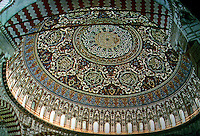 Turkey:  Arabesque dome of vast Selimiye Mosk, Edirng, Turkey, 1570's. Reign of Selim II, Suleiman's Son and Successor.