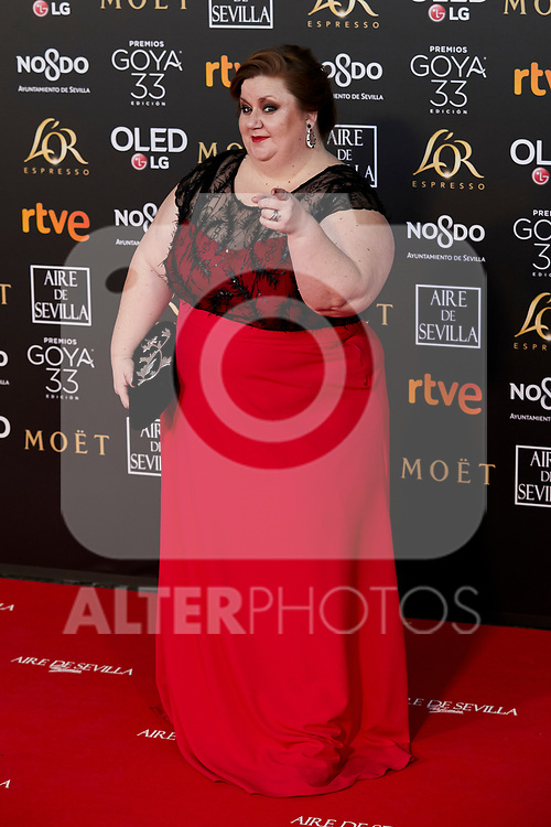 Itziar Castro attends to 33rd Goya Awards at Fibes - Conference and Exhibition  in Seville, Spain. February 02, 2019. (ALTERPHOTOS/A. Perez Meca)