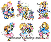 Interlitho-Theresa, CHILDREN, KINDER, NIÑOS, paintings+++++,gurls,KL4575,#k#, EVERYDAY ,angel,angels ,sticker,stickers