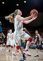 STANFORD, CA - March 3, 2010: Stanford Cardinal's Lindy La Rocque during Stanford's 75-51  win over the University of California at Maples Pavilion in Stanford, California.