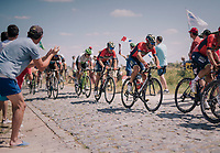 Vincenzo Nibali (ITA/Bahrain-Merida) at the end of pav&eacute; sector #9<br /> <br /> Stage 9: Arras Citadelle &gt; Roubaix (154km)<br /> <br /> 105th Tour de France 2018<br /> &copy;kramon