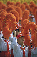 Beijing, China. October 1st, 1984. This huge parade is for the celebration of the 35th Anniversary of the Chinese Revolution.
