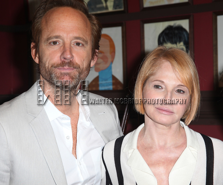 John Benjamin Hickey & Ellen Barkin attends Sardi's Caricatures unveiling for 'The Normal Heart' Tony Award Nominees Ellen Barkin, John Benjamin Hickey & Joe Mantello at Sardi's in New York City.