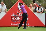 Charl Schwartzel tees off on the 8th on day two of the Abu Dhabi HSBC Golf Championship 2011, at the Abu Dhabi golf club, UAE. 21/1/11..Picture Fran Caffrey/www.golffile.ie.