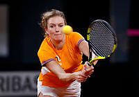 The Hague, The Netherlands, Februari 4, 2020,    Sportcampus, FedCup  Netherlands -  Balarus, practise, Indy de Vroome (NED)<br /> Photo: Tennisimages/Henk Koster