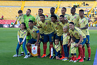 BOGOTA - COLOMBIA, 03-06-2019: Jugadores de Colombia posan para una foto previo al partido amistoso entre Colombia y Panamá jugado en el estadio El Campín en Bogotá, Colombia. / Players of Colombia pose to a photo prior a friendly match between Colombia and Panama played at Estadio El Campin in Bogota, Colombia. Photo: VizzorImage/ Gabriel Aponte / Staff