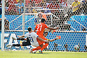 Memphis Depay (NED), JUNE 23, 2014 - Football / Soccer : Memphis Depay of Netherlands scores his side's second goal during the FIFA World Cup Brazil 2014 Group B match between Netherlands 2-0 Chile at Arena de Sao Paulo Stadium in Sao Paulo, Brazil. (Photo by Maurizio Borsari/AFLO)