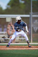 Tyrell Brewer during the WWBA World Championship at the Roger Dean Complex on October 18, 2018 in Jupiter, Florida.  Tyrell Brewer is a second baseman from Orlando, Florida who attends TNXL Academy who attends Florida State.  (Mike Janes/Four Seam Images)