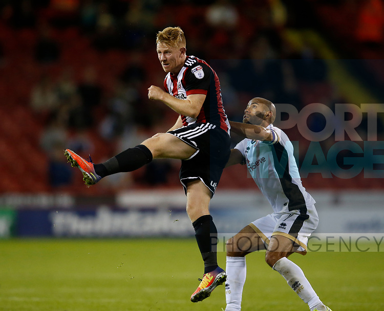 Mark Duffy of Sheffield Utd during the Carabao Cup First Round match at Bramall Lane Stadium, Sheffield. Picture date: August 9th 2017. Pic credit should read: Simon Bellis/Sportimage