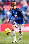 Takashi Inui of SD Eibar Warming up during the La Liga 2017-18 match between Getafe CF and SD Eibar at Coliseum Alfonso Perez Stadium on 09 December 2017 in Getafe, Spain. Photo by Diego Souto / Power Sport Images