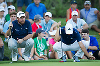 Shane Lowry (IRL), Sergio Garcia (ESP) on the 18th during the 1st round at the WGC Dell Technologies Matchplay championship, Austin Country Club, Austin, Texas, USA. 22/03/2017.<br /> Picture: Golffile | Fran Caffrey<br /> <br /> <br /> All photo usage must carry mandatory copyright credit (&copy; Golffile | Fran Caffrey)