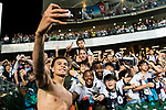 Tottenham Hotspur Midfielder Dele Alli takes selfies with fans during the Friendly match between Kitchee SC and Tottenham Hotspur FC at Hong Kong Stadium on May 26, 2017 in So Kon Po, Hong Kong. Photo by Man yuen Li  / Power Sport Images